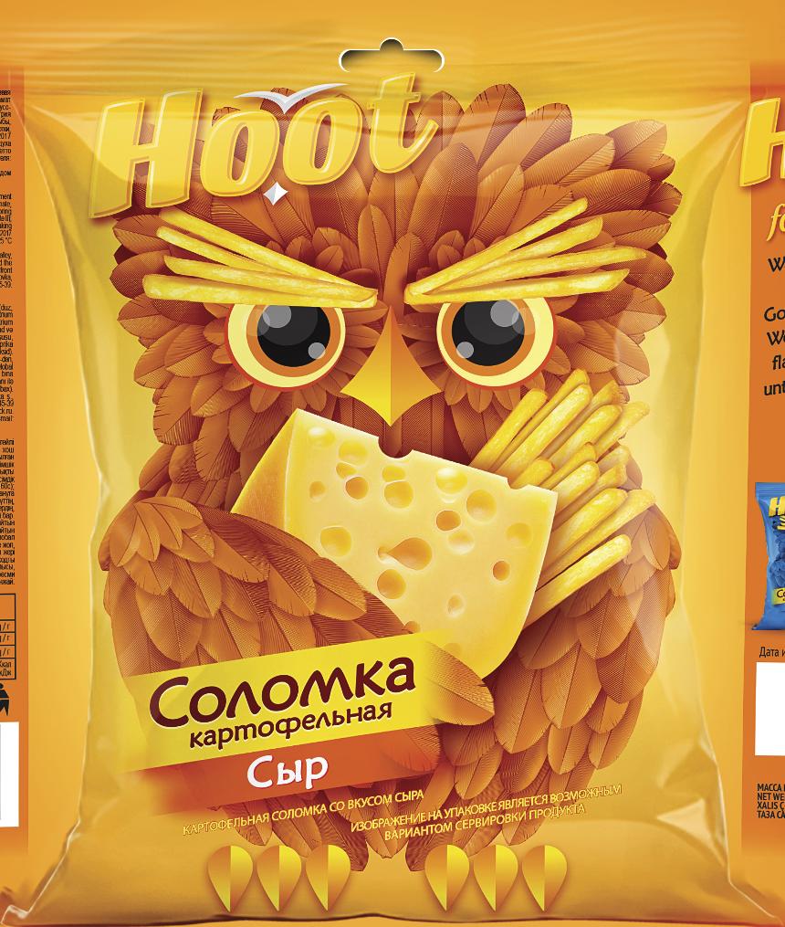 Соломка HOOT Сыр 50 г.