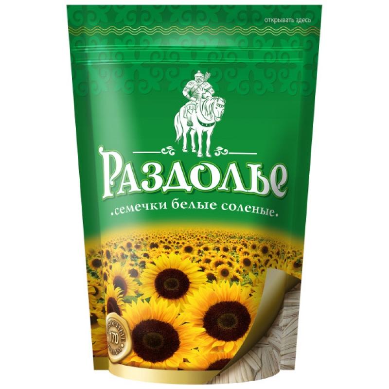 БЕЛЫЕ семечки «Раздолье» в дой-паке, 170 г