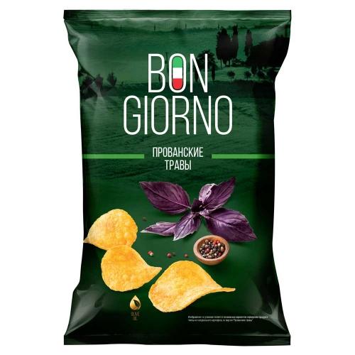 Чипсы картофельные Bon Giorno со вкусом Прованские травы, 90гр