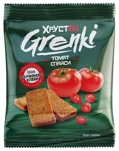 "Гренки ржаные ""Хрустец"" со вкусом Томат спайси 80 гр"